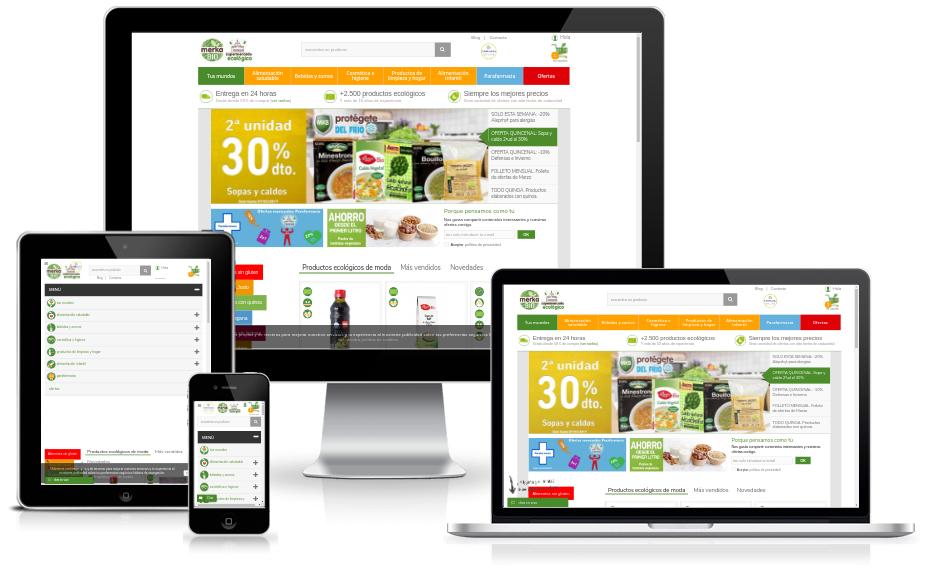 Web ecommerce de MerkaBio